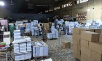 Hà Nội: Phát hiện và thu giữ hơn 50 nghìn cuốn sách nghi in lậu