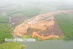 Vụ khai thác đá bạc trái phép tại Hà Tĩnh: Hàng trăm khối đá tập kết tại Công ty Trung Hậu